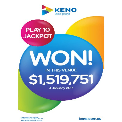 CELEBRATE OUT LATEST KENO MILLIONAIRE
