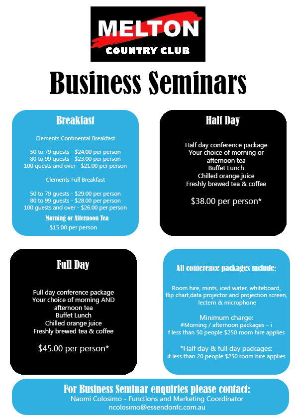 business seminars